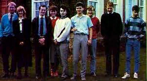 I fratelli Stamper (sulla sinistra con Carole Ward in mezzo ai due) con il resto del team Ultimate. Probabilmente questa è l'unica volta che essere umano li abbia visti dal vivo.