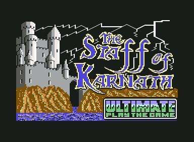 The Staff of Karnath segna l'ingresso in grande stile di Ultimate nel mercato del Commodore 64 con una produzione esclusiva.