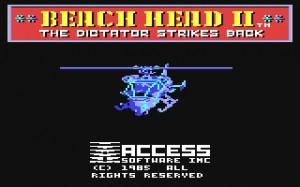Schermata introduttiva di Beach Head II. L'elicottero appariva talmente perfetto da togliere il fiato