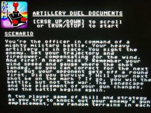 Scorrendo coi tasti cursore, potremo leggere una trama e apprendere i comandi e gli obiettivi di gioco