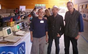 Primo scatto è d'obbligo con l'organizzatore, Carlo Munara, a sinistra e Giorgio Morocutti, compagno di viaggio, a destra.