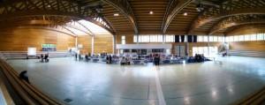 L'interno del palazzetto dello sport di Recoaro.