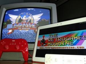 Emulatore Megadrive con Sonic in azione!