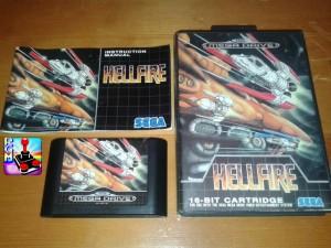 Cartuccia, manuale e box della versione europea di Hellfire