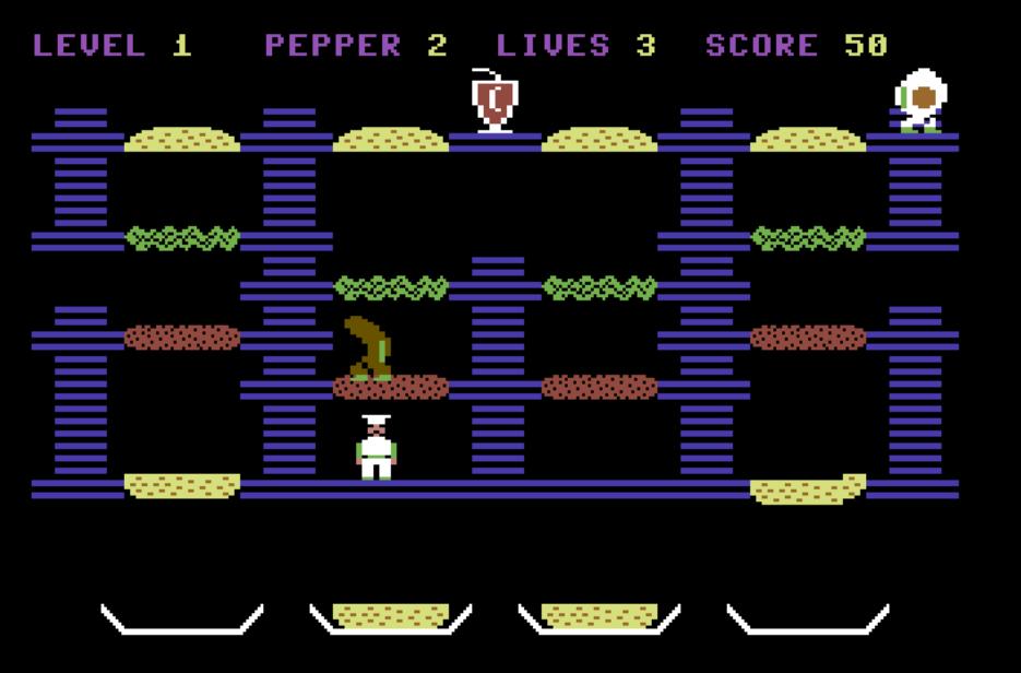 Burgertime per C64 è un immondo aborto realizzato da un bradipo