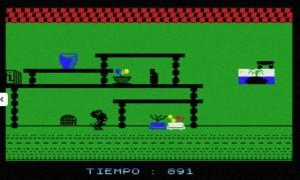 L'agghiacciante versione MSX del gioco, in cui una laida pantegana si aggira in un budino verde pisello.